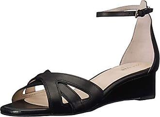 f7bae130654d3 Cole Haan Womens HANA Grand Wedge Sandal, Black Leather, 8.5 B US