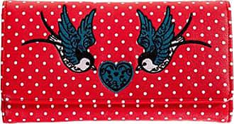 836bb6cae9c17 Banned Damen Retro XL Geldbörse - Now Or Never Schwalben Polka Dot  Rockabilly Portemonnaie verschiedene Farben