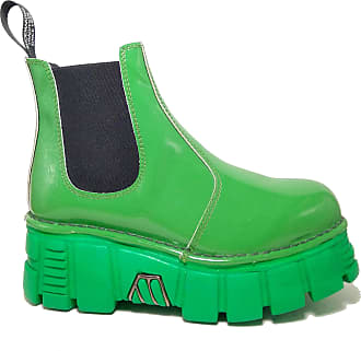 New Rock Super Offer Genuine Leather Boots Green M.Newrock-Green Green Size: 5 UK