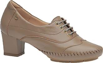 Doctor Shoes Antistaffa Sapato Feminino em Couro Fendi 790 Doctor Shoes-Bege-40