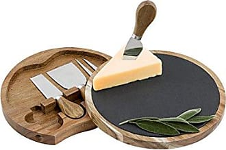 Cathy's Concepts Personalized Cheese Board Set, Brown/Gray, One Size