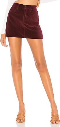 Hudson The Viper Velvet Mini Skirt in Purple