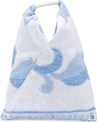 Maison Margiela Bolsa tote com aplicação floral Japanese - Azul