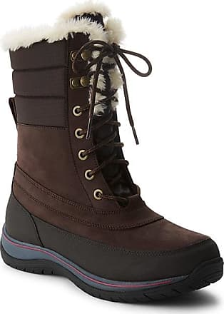 Lands End Womens Expedition Insulated Winter Snow Boots - Lands End - Black - 7H