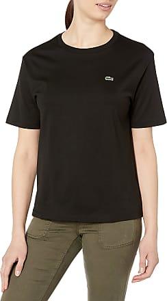 Damen T-shirt Lacoste Crew Neck Premium Cotton Black TF5441-031