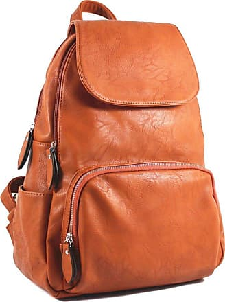 Your Dezire Unisex-Adult Ladies Womens Faux Leather Girls Rucksack Backpack College Uni Gym School Bag UK Tan