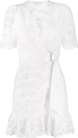 Sandro Vestido envelope Zany com bordado - Branco