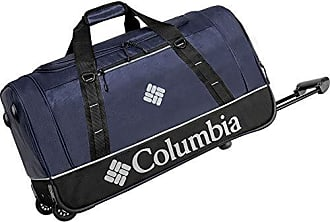 Columbia Wheeled Duffle Travel Bag - 26 Inch Large Rolling Lightweight Luggage Bags for Men, Collegiate Navy