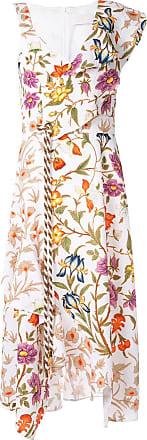 Peter Pilotto Vestido floral assimétrico - Branco