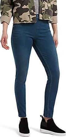 HUE Solid Color Womens Plus Size Moto Denim Leggings