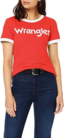 Wrangler Womens Ss Ringer Tee T-Shirt, Red (Bittersweet Red Xbo), Medium