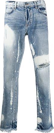 424 Halbhohe Distressed-Jeans - Blau