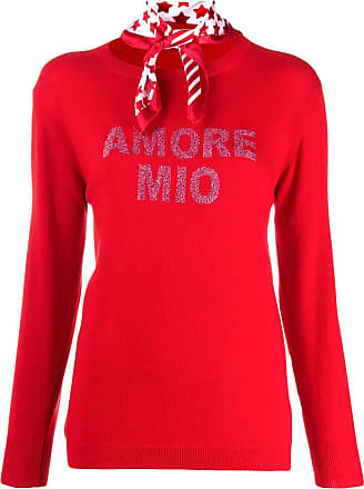 5 Progress Suéter Amore Mio de tricô leve - Vermelho
