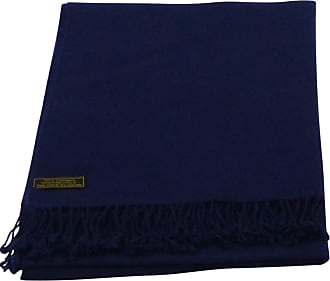 CJ Apparel Midnight Blue High Grade 100% Cashmere Shawl Pashmina Scarf Wrap Stole Hand Made in Nepal CJ Apparel NEW