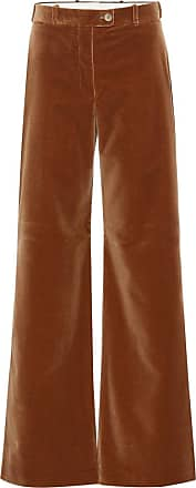 Acne Studios High-rise flared velvet pants