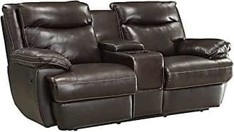 Coaster Fine Furniture Macpherson Motion Loveseat with Storage Compartment and Cupholders Espresso