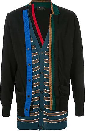 Kolor knitted layered cardigan - Black