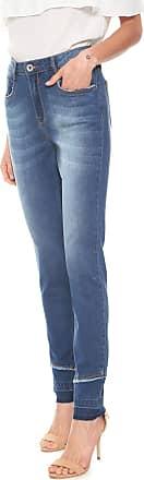 Enna Calça Jeans Enna Slim Recortes Azul