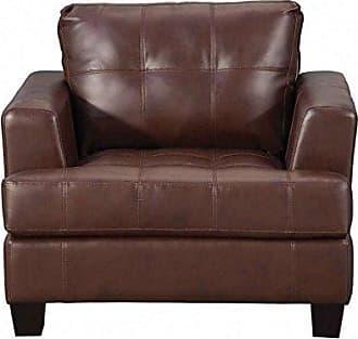 Coaster Fine Furniture Samuel Upholstered Chair Dark Brown