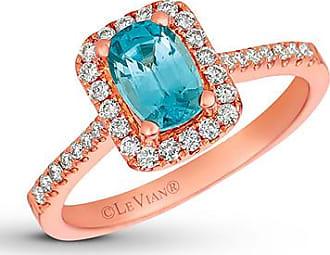Le Vian Zircon Ring 1/4 ct tw Diamonds 14K Strawberry Gold