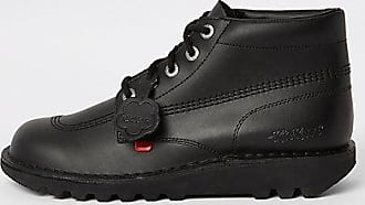 Kickers Mens Kickers black leather lace-up boots