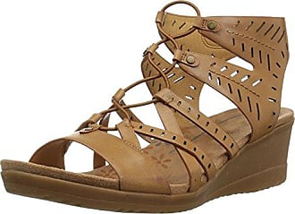 75608314521 BareTraps Womens Tiffany Sandal Auburn 6.5 Medium US