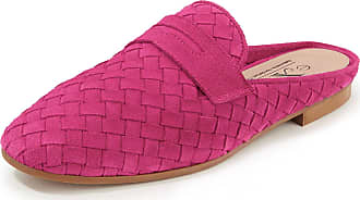 Peter Hahn Plaited sandals a decorative tab Peter Hahn exquisit bright pink