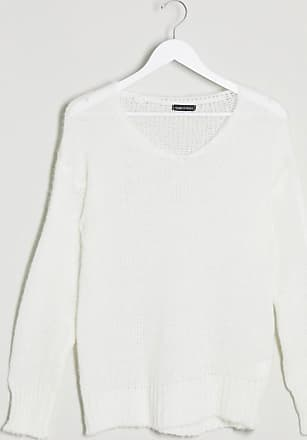 I Saw It First v neck soft touch jumper in white