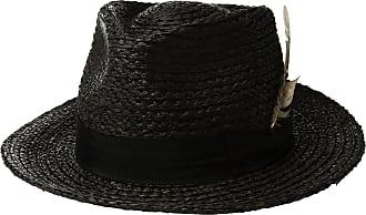 3d74901d21aff Brixton Mens Crosby Medium Brim Straw Fedora Hat Newsie Cap