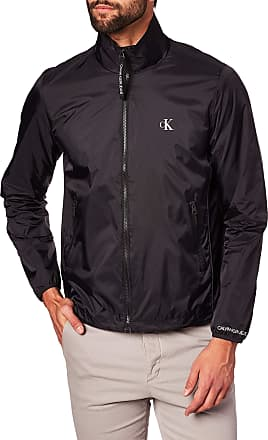 Calvin Klein Jeans Mens Nylon Harrington Sports Jacket, Black (Ck Black Bae), X-Small (Size:XS)