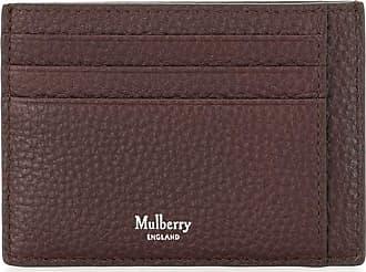 Mulberry Porta-cartões com placa de árvore - Marrom