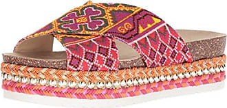 Jessica Simpson Womens Shanny Slide Sandal red/Multi 11 Medium US