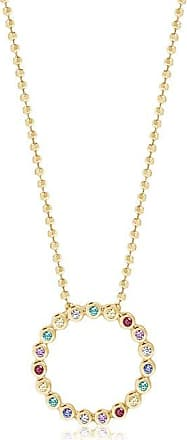 Sif Jakobs Jewellery Pendant Sardinien Circolo - 18k gold plated with multicoloured zirconia