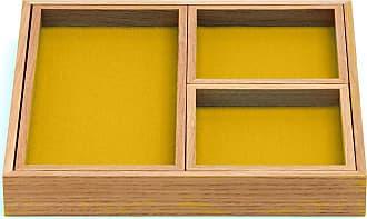 Hey-Sign Tablett 4er Set - curry/Filz/3mm/LxBxH 37x37x5cm