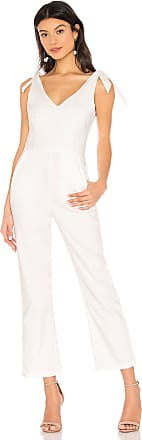 Superdown Corinna Tie Strap Jumpsuit in White