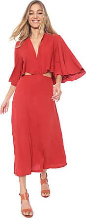 Dress To Vestido Dress to Midi Canelado Vermelho