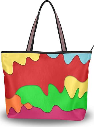 Lorona Women Liquid Forms Water Canvas Shoulder Hand Bag Large Capacity Tote Bag