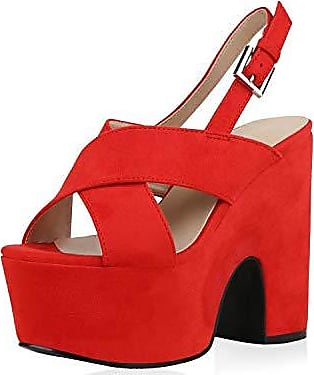SCARPE VITA Damen Sandaletten High Heels Pumps mit Blockabsatz