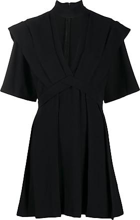 Iro flared V-neck dress - Black
