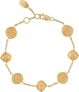 Northskull Pulseira com pingentes - Dourado