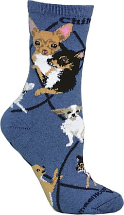 Wheel House Designs Chihuahua Dog Design Novelty Socks In Blue (Large)