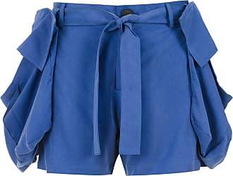 Uma Short Planta com bolsos - Azul