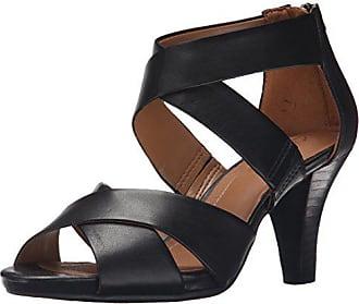 Clarks Womens Florine Sashae Sandal, Black Leather, 7.5 M US
