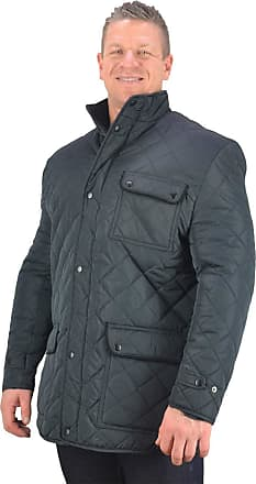 Espionage Big Mens Navy Blue Gus Diamond Quilt Coat 2XL 3XL 4XL 5XL 6XL 7XL 8XL, Size : 6XL
