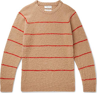 Ymc You Must Create Striped Wool Sweater - Sand