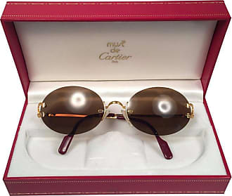 f4344f6ae91f Cartier New Vintage Cartier Scala 45mm Special Edition Gold Rimless France  Sunglasses