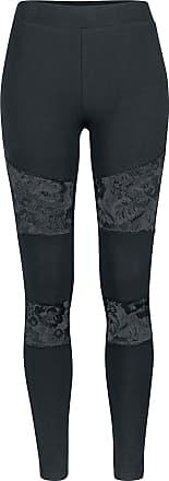 Urban Classics Ladies Lace Inset Leggings - Leggings - schwarz