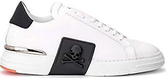 Philipp Plein  Sneaker Lo-Top Original aus Schwarzem Leder mit Schwarz