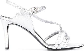 Zadig & Voltaire Marilyn metallic sandals - SILVER