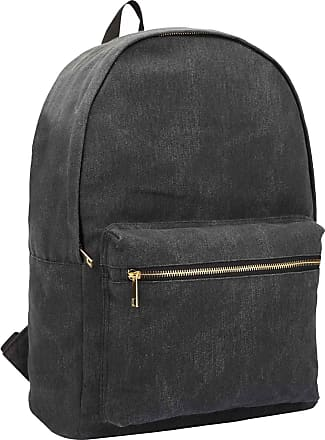 Quenchy London Ladies Backpack, Girls Casual Daypack Bag for School, Work or Hand Luggage Travel 20 Litre Size 39cm x32 x16 QL7165K (Black Jeans)